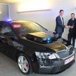 Černá Škoda Octavia RS ve službách Belgické policie