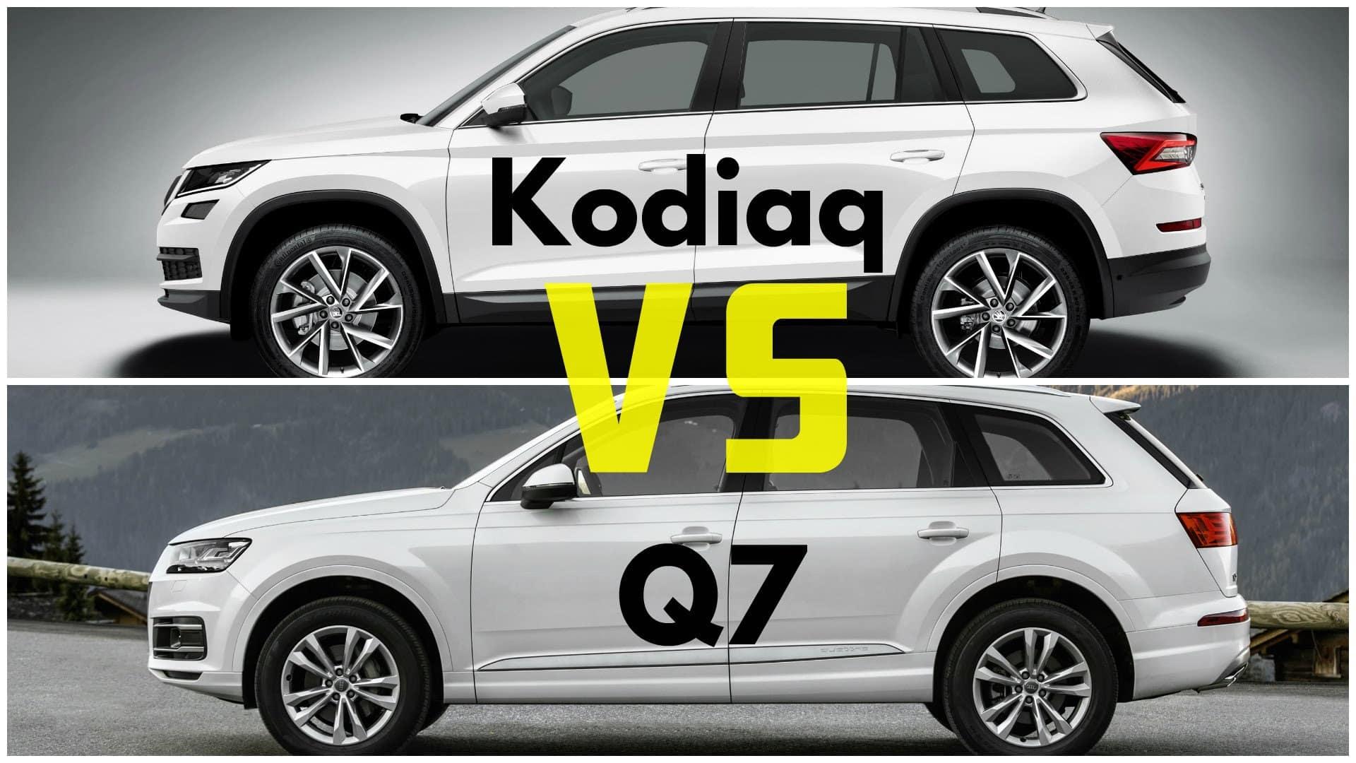 Srovnán Åkoda Koidaq vs Audi Q7