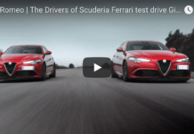Ferrari test drive Giulia Quadrifoglio
