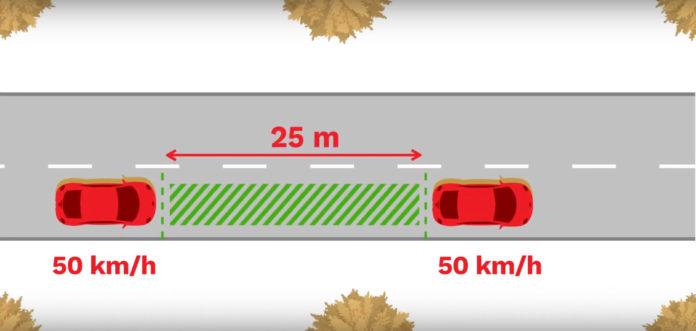Jak dodržovat rozestup mezi vozidly